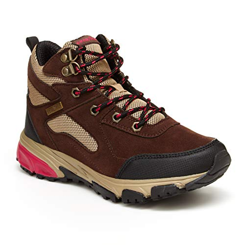 Goodyear Aurora Women's Hiking Boots, High Top; Hiking Boots for Women Brown/Pink ()