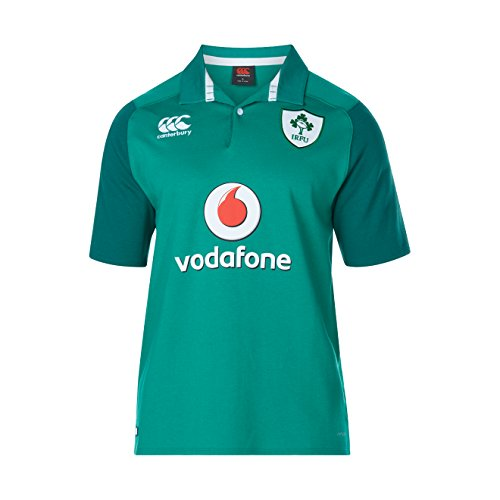 (Canterbury 2017-2018 Ireland Home SS Classic Rugby Football Soccer T-Shirt Jersey)