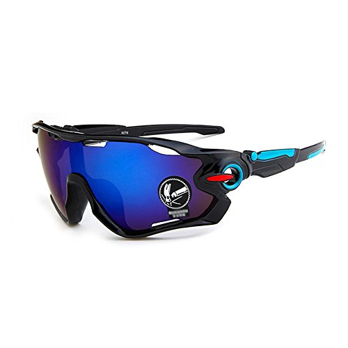 Riding Glasses Motorcycle for Mens & Womens (Blue), Mingus Polarized Glasses for Outdoor Activity - Prescription Riding Glasses