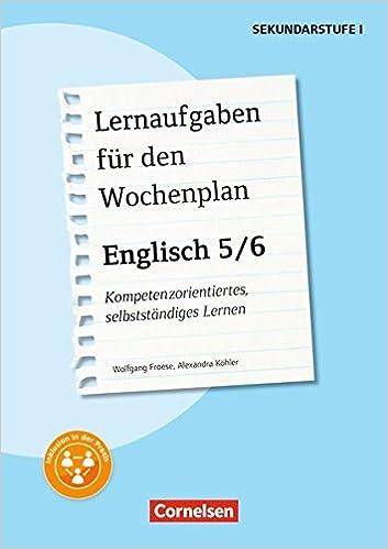 Lernaufgaben Für Den Wochenplan Englisch Englisch 56 2