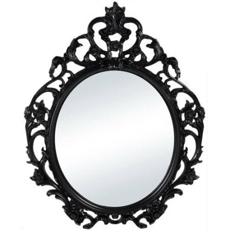 Better Homes and Gardens Baroque Oval Wall Mirror (Black) from Better Homes and Gardens