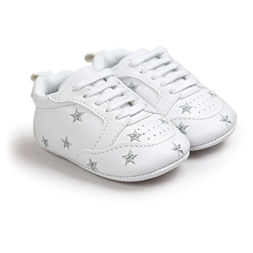 Zapatillas para bebé, zapatillas de piel sintética, suela suave, antideslizante, color, talla 6-12 meses