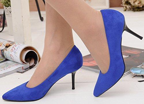 Salabobo , Sandales Compensées femme - bleu - bleu,