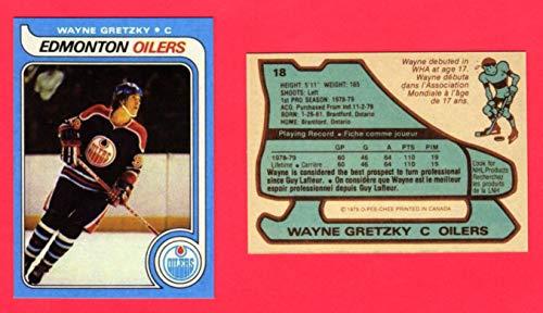 Wayne Gretzky 1979 Topps Hockey Reprint Rookie Card (O-Pee-Chee) (Printed in Canada on Back of card) (Edmonton) (Los Angeles)