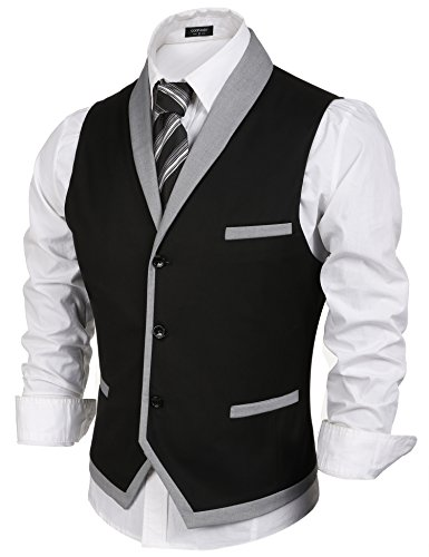c222a3657 COOFANDY Men s V-Neck Sleeveless Slim Fit Vest