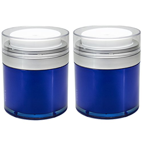 Blue Airless Jar 1.7 oz / 50 ml (2 pack) (Cream 1.7 Ounce Jar)