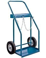 "Gas Cylinder Carts, Semi-Pneumatic Wheels, 19"" W x 10"" L Base, 1000 lbs."