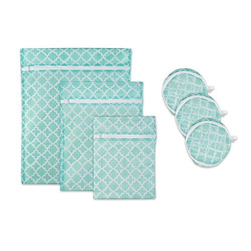 DII Set of 6 Mesh Laundry Bags for Delicates, Bra, Underwear, Hosiery, Stocking, Lingerie, Travel Storage, and Closet Organization - Set of 6 Medium Assorted Sizes