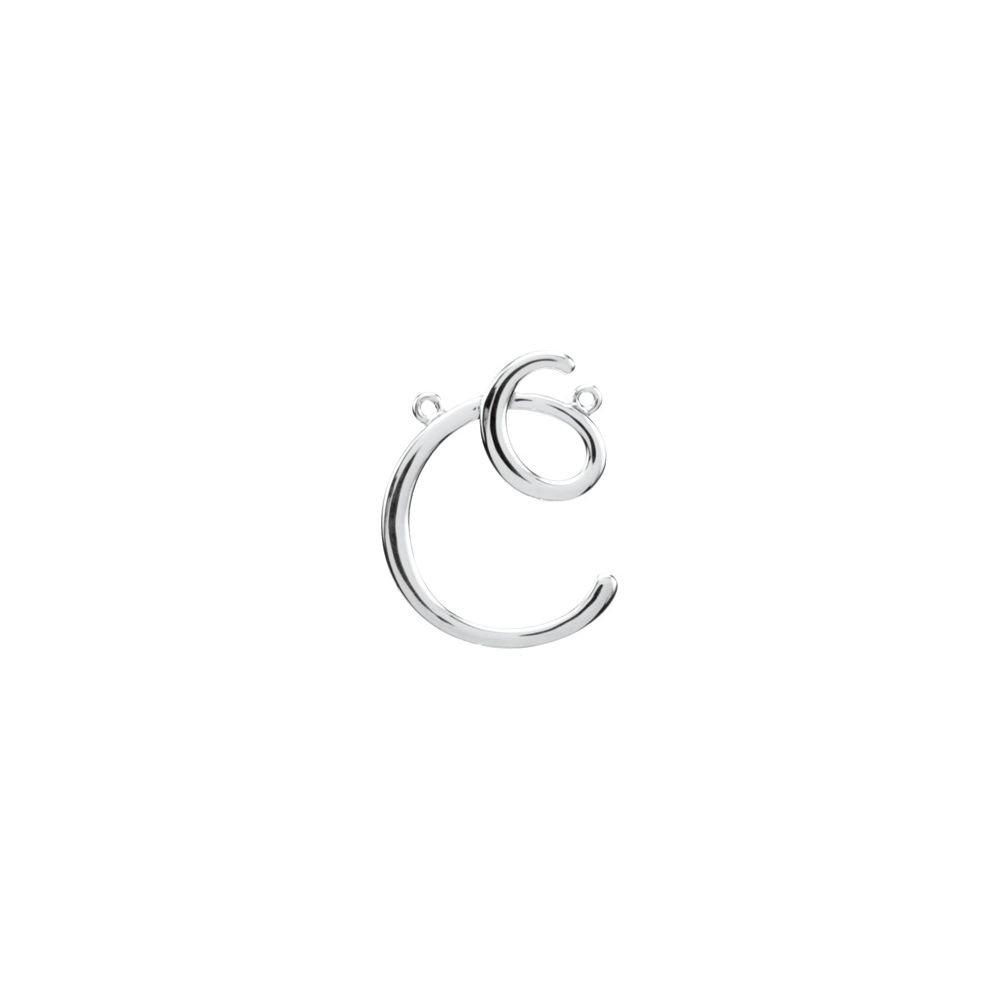 DiamondJewelryNY Sterling Silver C Script Initial