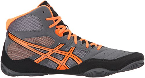 Asics Mens Snapdown Bryting Sko Hai / Varm Orange / Svart