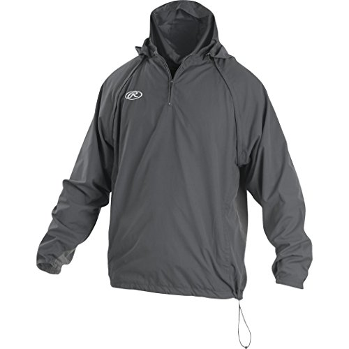 Rawlings Youth Team Jackets - Boy's Rawlings Sporting Goods Boys Youth Jacket W Removable Sleeves & Hood, Graphite, Large
