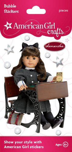 American Girl Crafts Bubble Stickers, Samantha Parkington and Desk -