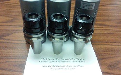 3pcs BT40-ER32-70mm COLLET CHUCKS balanced to G2.5/25000RPM #B25-BT40-ER32 by CME Tools