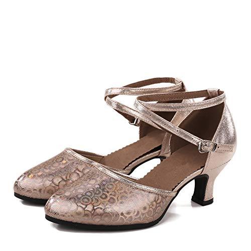 Latin Femmes Sandales Latines Champagne Danse Heel Pour 6cm Tango Danse Chaussure De Chaussures rq00tfwWFZ
