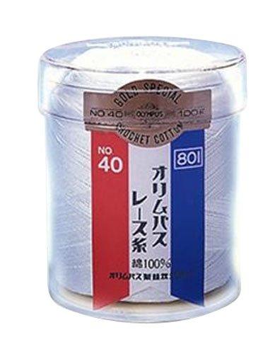 801 オリムパス レース糸 金票40番 (白) 100g玉巻 6玉入 B00K7XHCXS