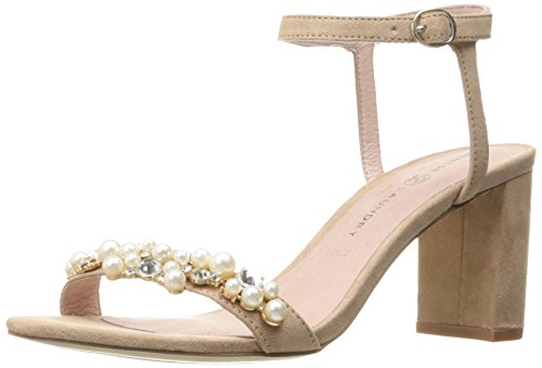 Chinese Laundry Women's Rosetta Dress Sandal, Dark Nude Suede ,  8 M US