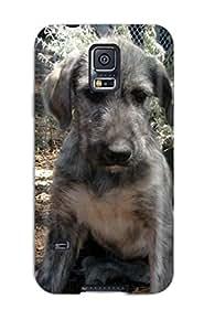 New Premium Flip Case Cover Irish Wolfhound Puppies Skin Case For Galaxy S5