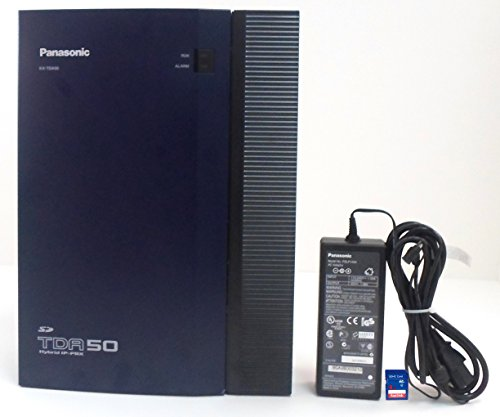 Panasonic KX-TDA50 Hybrid IP-PBX 4x4 KSU with Power Supply / Cover / SD Card