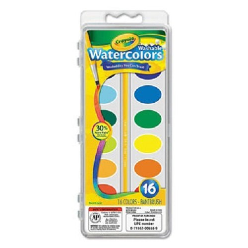 Crayola Washable Watercolor Paint, 16 Colors (Pack of 3) (Washable Paint Watercolor)