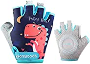 Gogokids Kids Cycling Gloves Boys Girls Road Mountain Mittens - Child Half Fingers Bicycle Gloves Sports Glove