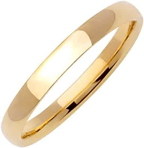 18K Gold Traditional Classic Men's Comfort Fit Wedding Band (3mm)