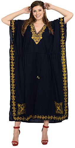caftano costumi LA bagno donne LEELA beachwear del kimono costume delle di designer j815 da lungo vestito rayon da bagno Blu Navy ZTvXqvS