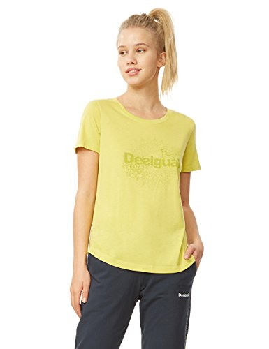 Desigual Tee Tee Vert Co Ts shirt Citron CC1UqnF