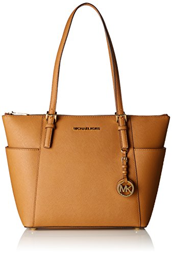 (Michael Kors Womens Jet Set Item Tote, Brown (Acorn), 11.4x25.4x38.1 cm (W x H x L))