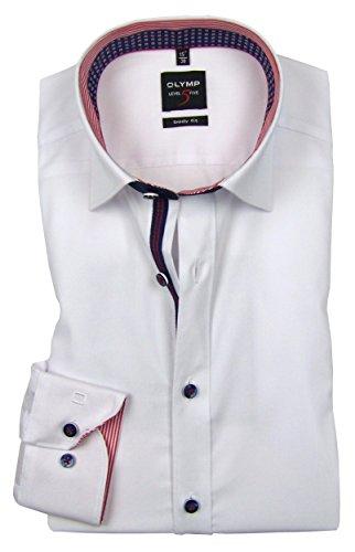 Olymp -  Camicia classiche  - Basic - Con bottoni  - Uomo Bianco bianco 45