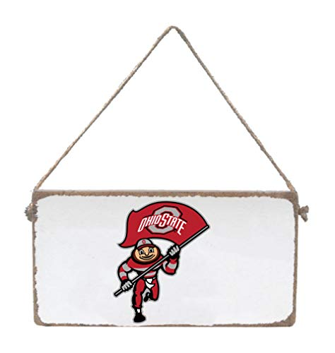 Rustic Marlin NCAA Ohio State Buckeyes Mini Plank Hanging Sign, White, 6
