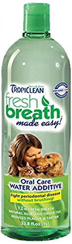 Tropiclean Fresh Breath Plaque Remover Pet Water Additive 33.8oz, New by Tropiclean Fresh Breath