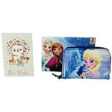Disney Princess Frozen Wallet Coin Purse Card ID Photos Holder blue