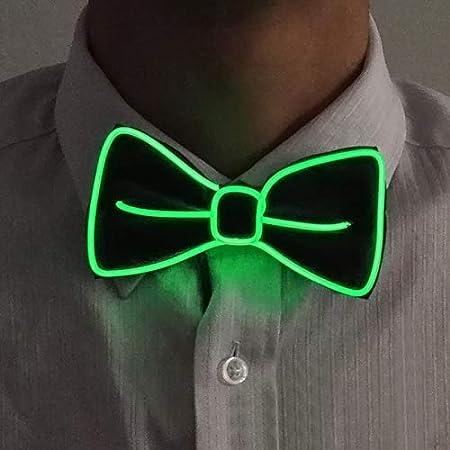 feste decorazioni rosa. Cravatta a farfallino da uomo con filamento luminoso Neon Led per cosplay Dastrues