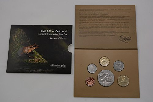 NZ 2008 Annual Uncirculated Coin Set - Hamiltons Frog Uncirculated