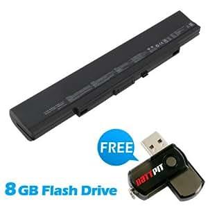 Battpit Bateria de repuesto para portátiles Asus U53Jc-XX049X (4400mah / 49wh) Con memoria USB de 8GB GRATUITA