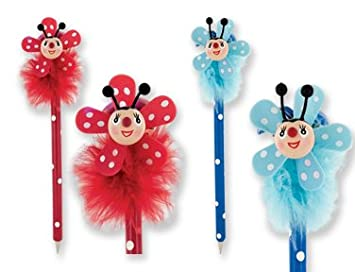 24pc Whirly Bugs Ladybug Pens w/ Display Wholesale: Amazon.co.uk: Office  Products