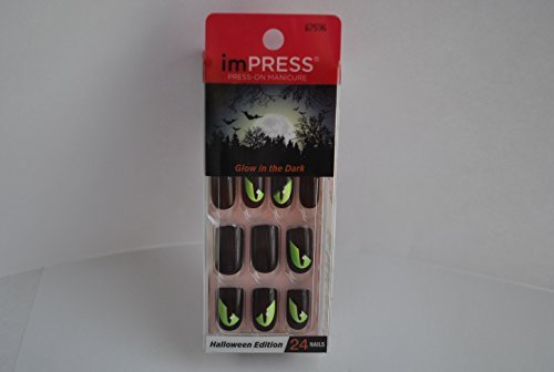 Halloween Nails (Impress Press-on Manicure Glow in the Dark Halloween Edition Nails - Gossip Ghoul)