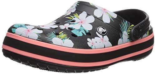 Crocs Crocbndsgclg Clog, Black/Floral, 7 US Women / 5 US Men