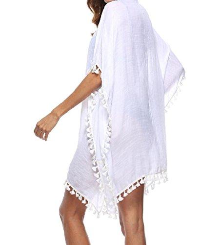 Costume nappa Scava Cover size Fuori Del Bianco Il Donne Coolred Bikini Delle Bagno Plus up Da Solido 8AwHqq
