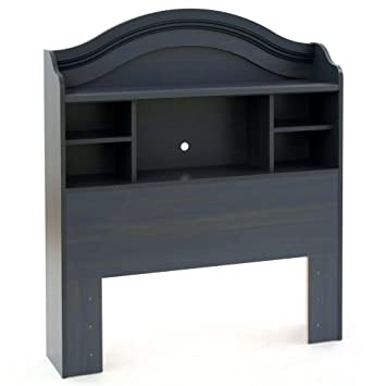 South Shore Furniture, Summer Breeze Collection, Bookcase Headboard  39u0026quot;, Blueberry