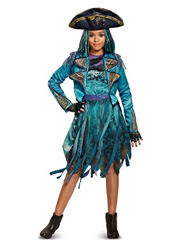 Disguise Uma Deluxe Descendants 2 Costume, Teal, Medium (7-8) -