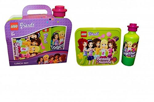 Lego Friends 'Lime Green' Lunch Box and Bottle Set