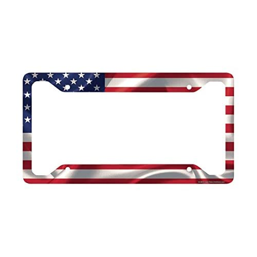 Airstrike American Flag License Plate Frame, American Flag License Plate Holder, American Flag Frame-30-296 for cheap