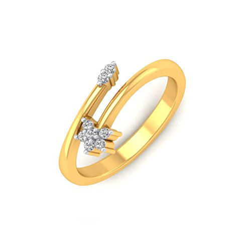 P.N.Gadgil Jewellers 18KT Yellow Gold and Diamond Ring for Women