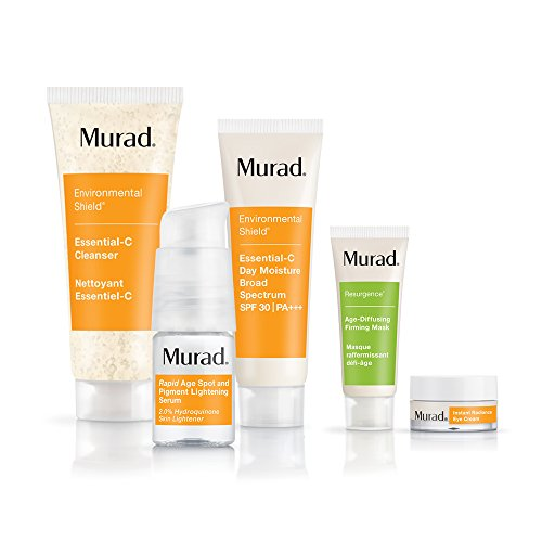 Murad Rapid Lightening Regimen 30-Day Kit - (Cleanser, Serum, Moisturizer, and 2 Bonus Gifts), Simple 3-Step Regimen that Treats Skin Discoloration and Age Spots by Targeting Hyperpigmentation