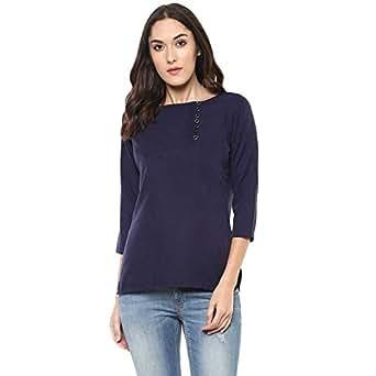 Rain Drop T-Shirts for Women - Navy Blue