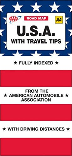 AAA Map USA with Travel Tips (AAA Road Map S.): Amazon.de ... Driving Map Of Usa With Distances on