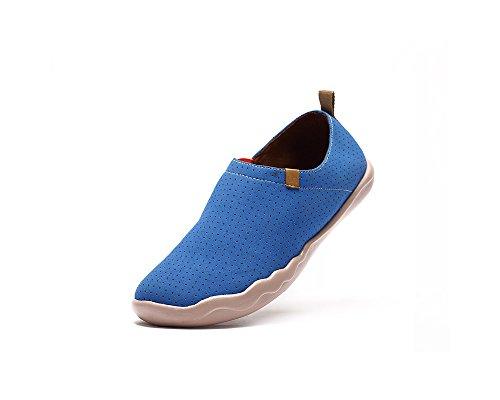 UIN Men's Toledo Microfiber Casual Loafer Shoe Blue outlet ebay ZKugPY