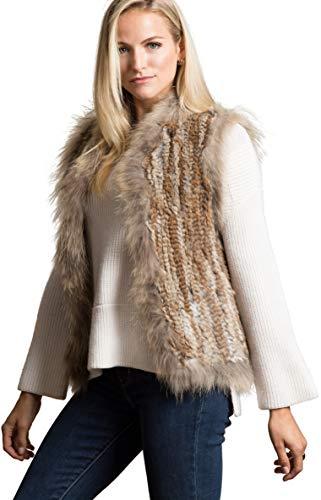 Laurel Knitted Rabbit Fur Vest