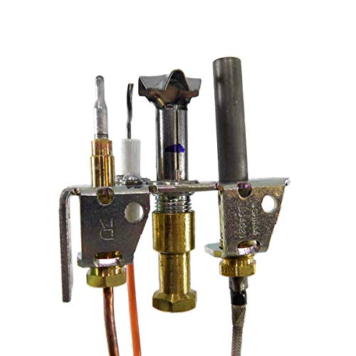 White Mountain Hearth Empire Direct Vent Fireplace Propane Pilot Assembly with Thermopile & Thermocouple R5144 (Light Pilot Fireplace)
